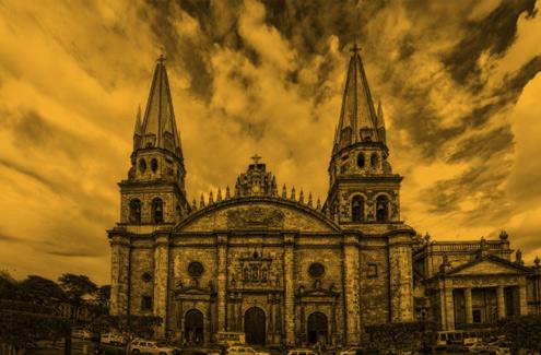 ruta hacia Alcalde desde la Catedral de Guadalajara